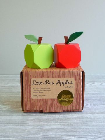 Giftwrapped,'Low-res',Apple,Ornaments,wood apple,lo-res,apple ornament,teacher gift,apple decoration,wooden fruit,apple,low res