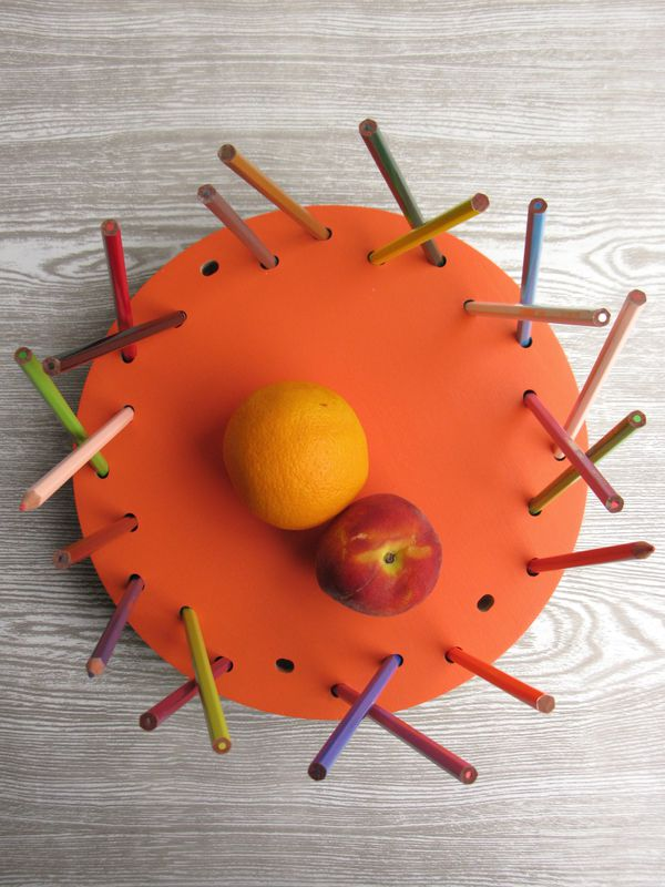 Pencil Tidy Fruit Bowl - NEW Tangerine Edition - product images  of