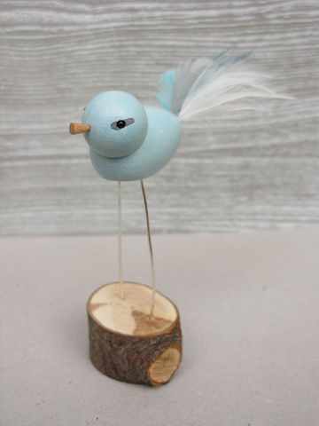 Handmade,Bird,-,Duck,Egg,Blue,bird decoration, bird ornament, wooden bird, bluebird,duck egg blue,something blue, handmade bird, uk, loglike