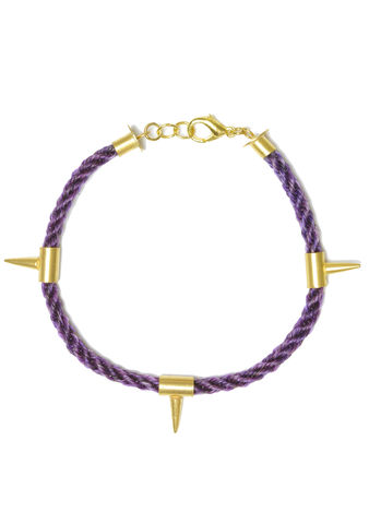 Dark,Unicorn,Bracelet-,Purple,gold, spikes, studs, jewellery, jewelery, purple, hair, horse
