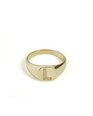FACETT,CUSHION,SIGNET,RING,-,GOLD,/,PERSONALISED