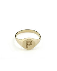 FACETT,ROUND,SIGNET,RING,-,GOLD,/,PERSONALISED