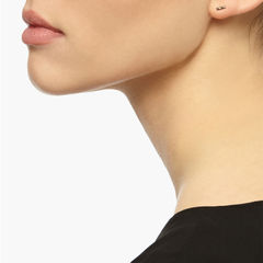 MINI DIAMOND BAR STUD EARRINGS - GOLD - product images  of
