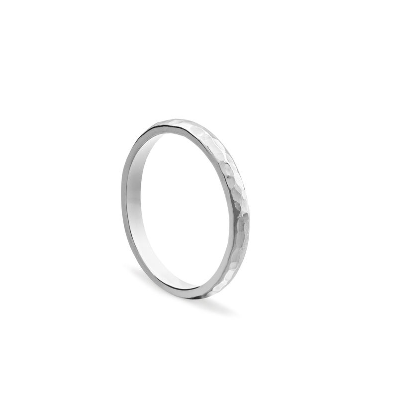CLASSIC HAMMERED BAND - SILVER - product images  of