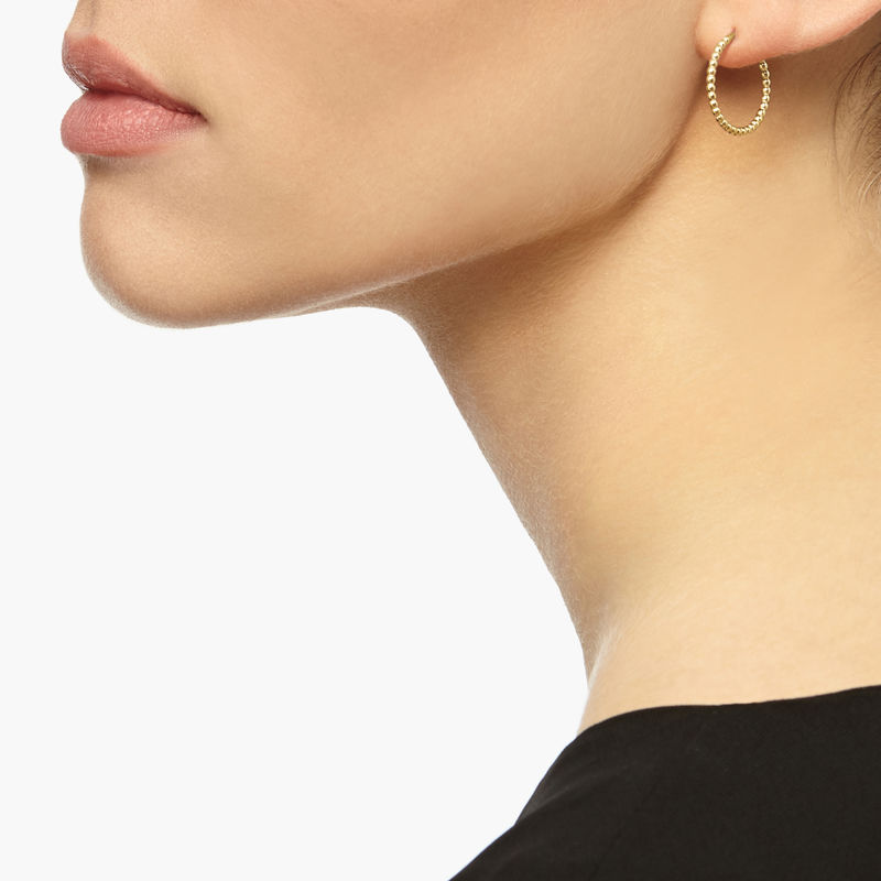 MINI BALL HOOP EARRINGS - GOLD - product images  of