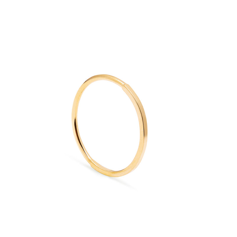 50 ROUND / 50 SQUARE SKINNY STACKING RING - GOLD - product images  of
