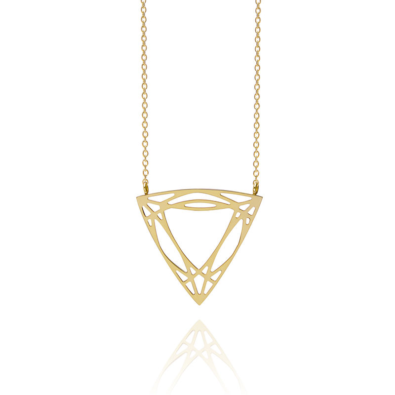 TRILLION DIAMOND NECKLACE - GOLD - product images  of