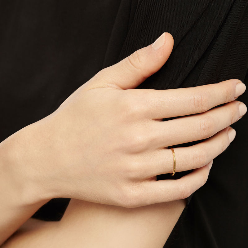 ULTRA SKINNY STACKING RING - 18CT YELLOW GOLD - product images  of