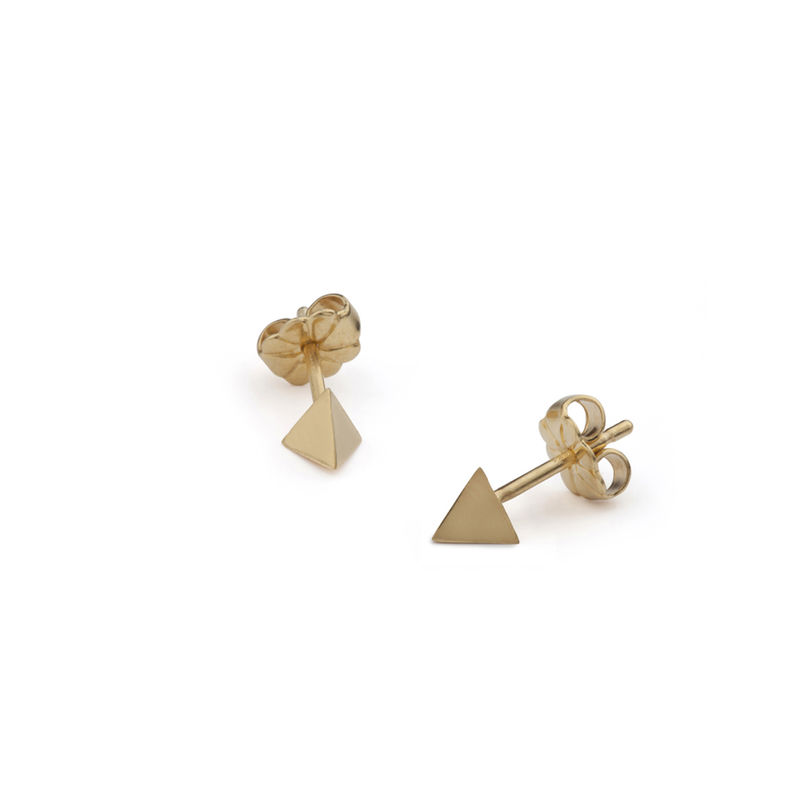 TETRAHEDRON STUD EARRINGS - GOLD - product images  of