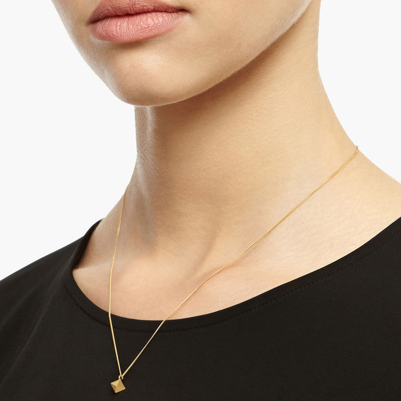 MINI OCTAHEDRON PENDANT - GOLD - product images  of