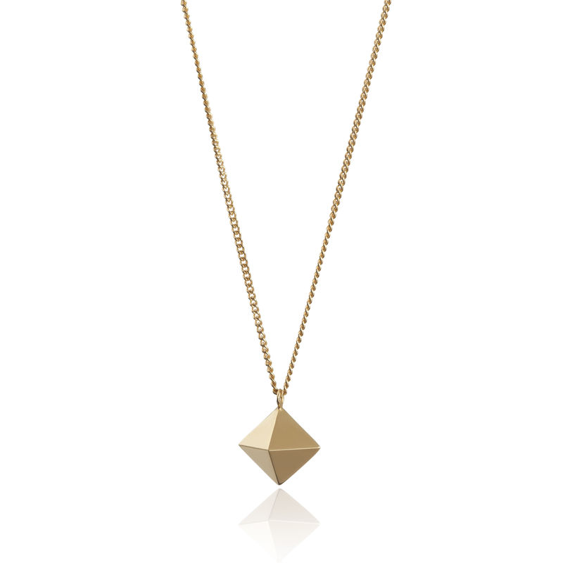 OCTAHEDRON PENDANT - GOLD - product images  of