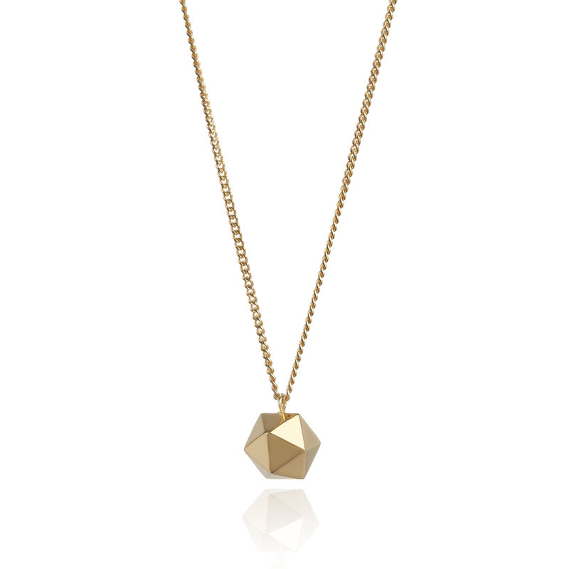 ICOSAHEDRON PENDANT - GOLD - product images  of