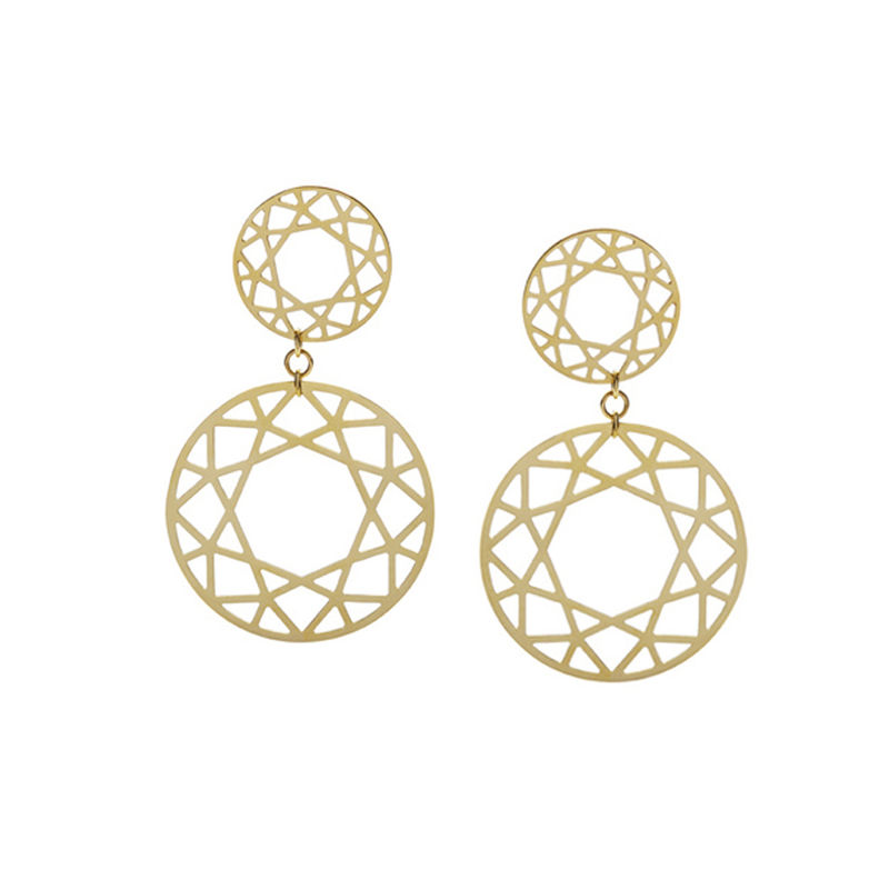 DOUBLE DROP BRILLIANT DIAMOND EARRINGS - product images  of