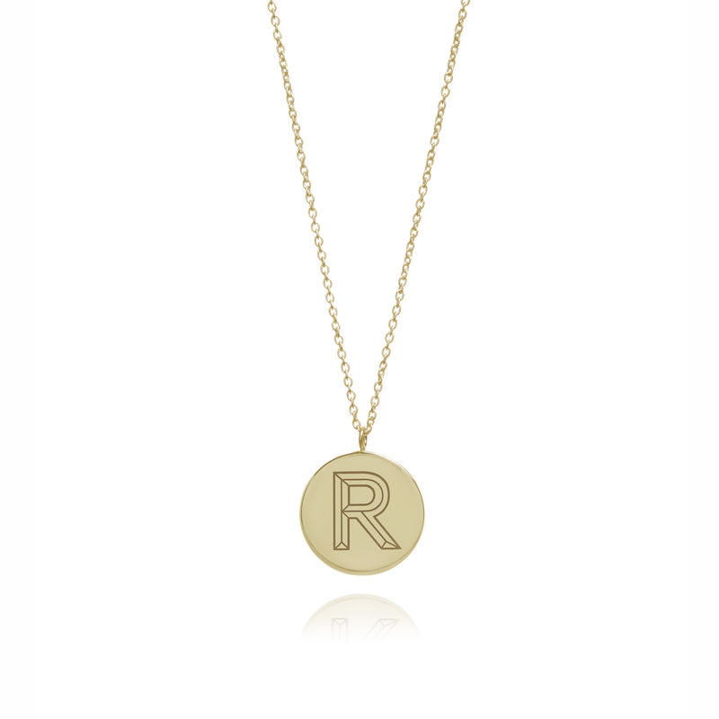 FACETT INITIAL NECKLACE - 9CT GOLD / PERSONALISED  - product images  of