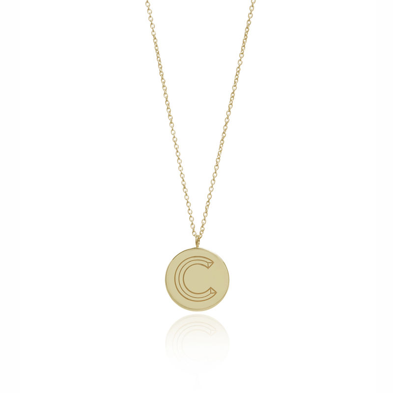 FACETT INITIAL NECKLACE - GOLD / PERSONALISED  - product images  of