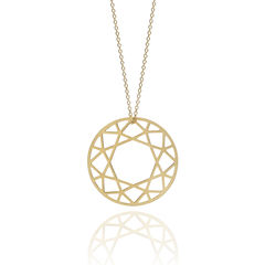 LARGE,BRILLIANT,DIAMOND,NECKLACE,-,GOLD,gold plated necklace, gold necklace, gold diamond necklace, diamond inspired necklace, graphic jewellery, graphic necklace, gold, french necklace, london based designer, jewellery, new jewellery design, bijjoux, brilliant diamond, gold vermeil