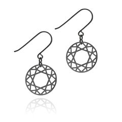BRILLIANT,DIAMOND,DROP,EARRINGS,-,BLACK