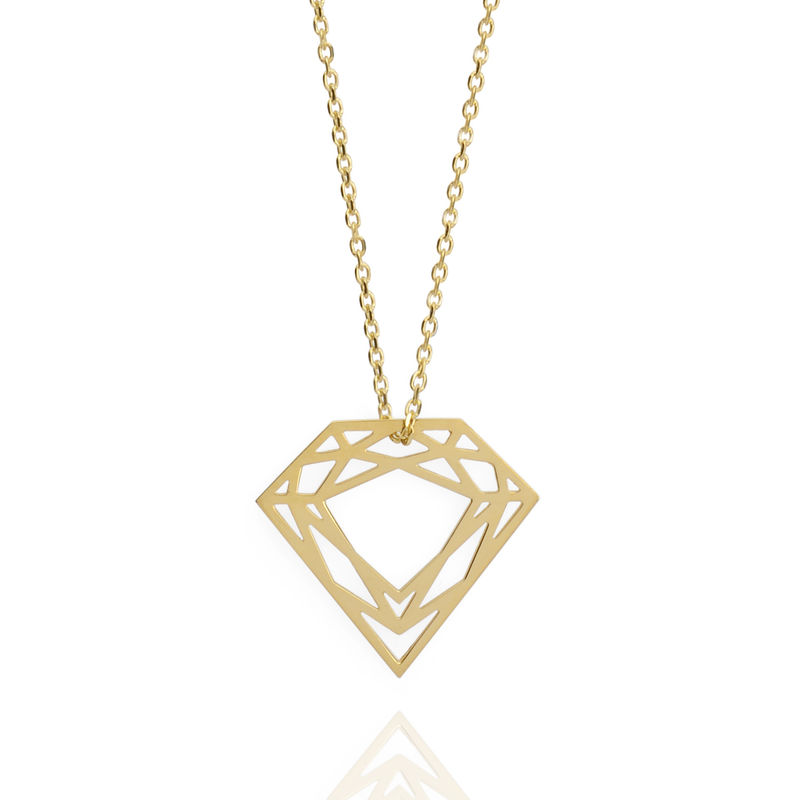 CLASSIC DIAMOND NECKLACE - 9CT GOLD - product images  of