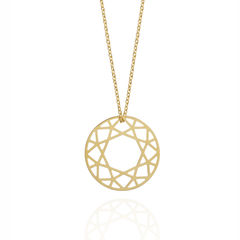 MEDIUM BRILLIANT DIAMOND NECKLACE - GOLD - product images  of