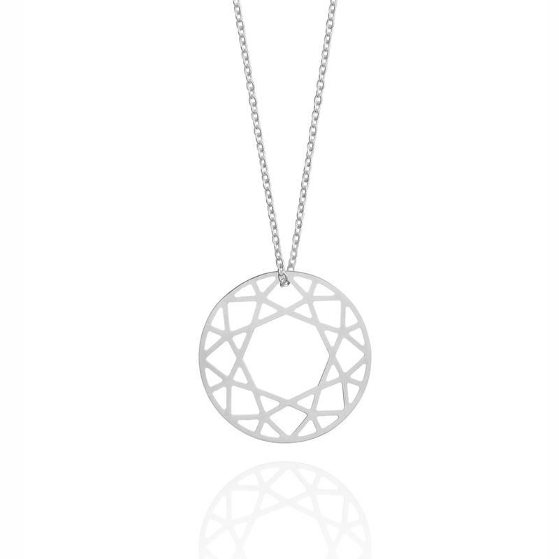 MEDIUM BRILLIANT DIAMOND NECKLACE - SILVER - product images  of