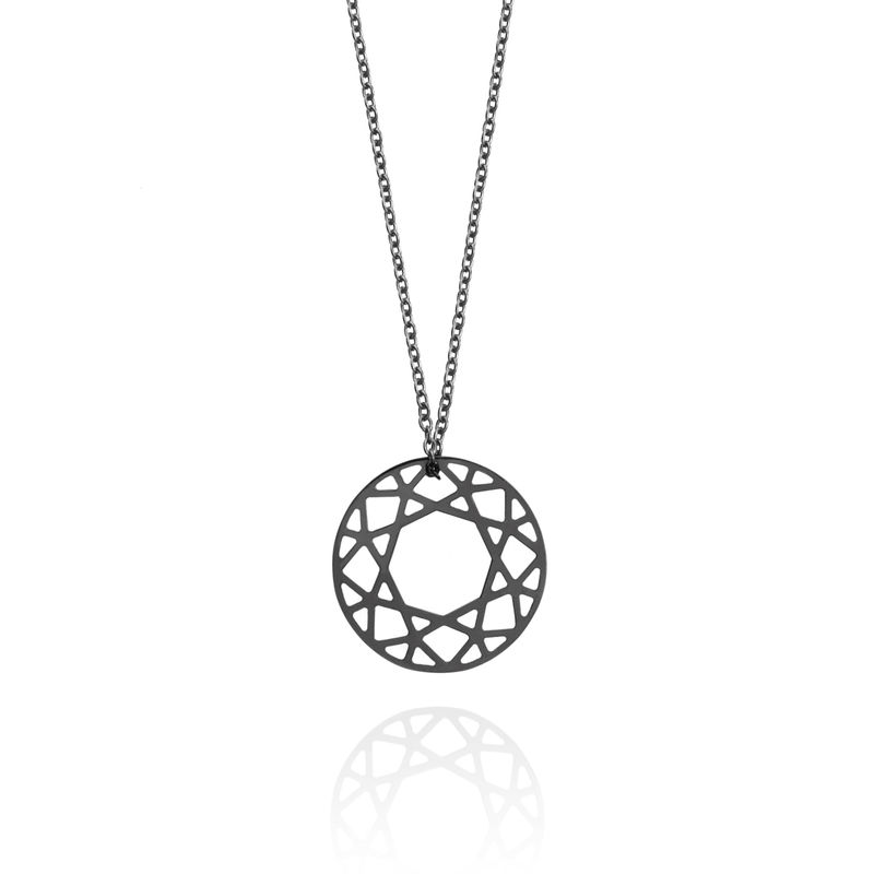 SMALL BRILLIANT DIAMOND NECKLACE - BLACK - product images  of