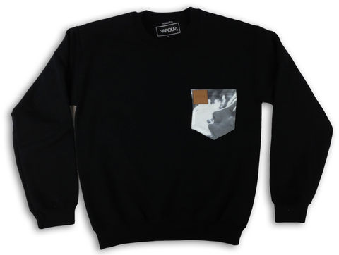 Smoker,Pocket,Black,Crew,mens,streetwear,urban,london,fashion,tshirts,skate