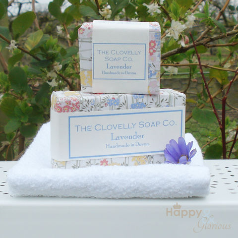 Clovelly,Lavender,Essential,Oil,Soap, Clovelly soap, natural, organic, soap, lavender, essential, oil, essential oil, British, paraben free, glycerine, olive, coconut, olive oil, handmade, Devon, made in Britain, English, made in the UK