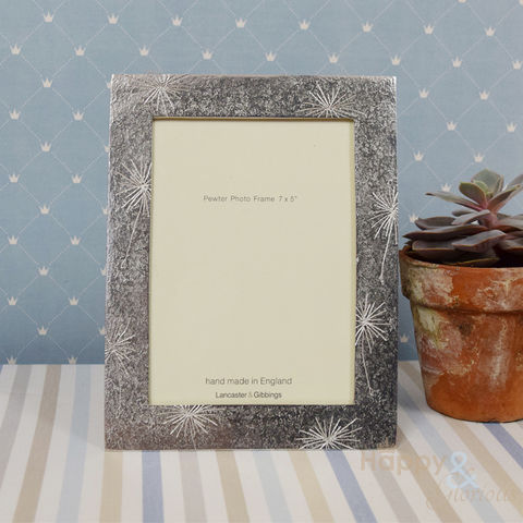 Pewter,'allium,flowers',7x5,frame,by,Lancaster,&,Gibbings,allium, flowers, handmade, hand crafted, wedding, pewter, frame, photo frame, picture, Lancaster & Gibbings, Britain, British, Made in UK, Made in Britain, England, English, British made