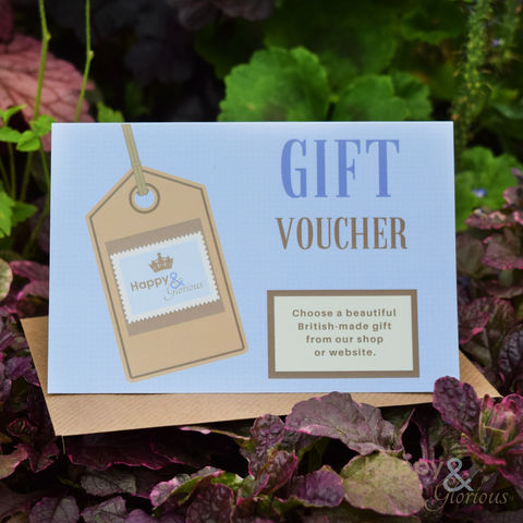 Happy,&,Glorious,gift,voucher,gift voucher, gift token, made in Britain, British, made in UK