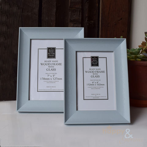 Soft,blue,wooden,photograph,frame, powder blue, chalk paint, annie sloane, frame, photo frame, picture, 6x4, 7x5, Britain, British, Made in UK, Made in Britain, England, English, British made