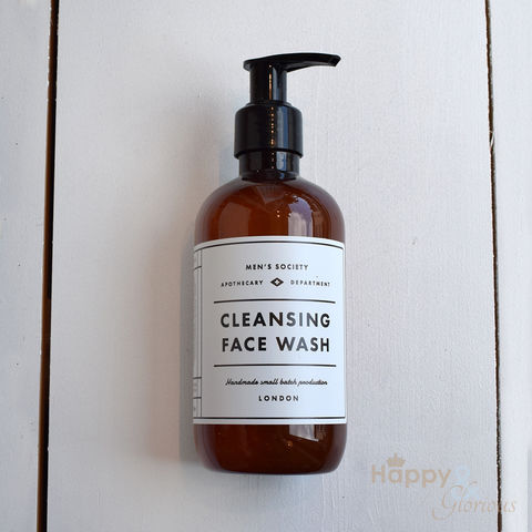Cleansing,face,wash,by,Men's,Society,Men's society, men's gifts, man gifts, handmade, made in Britain, gift set, face wash, fathers day, essential oil, British made gift, made in UK, natural, grooming products