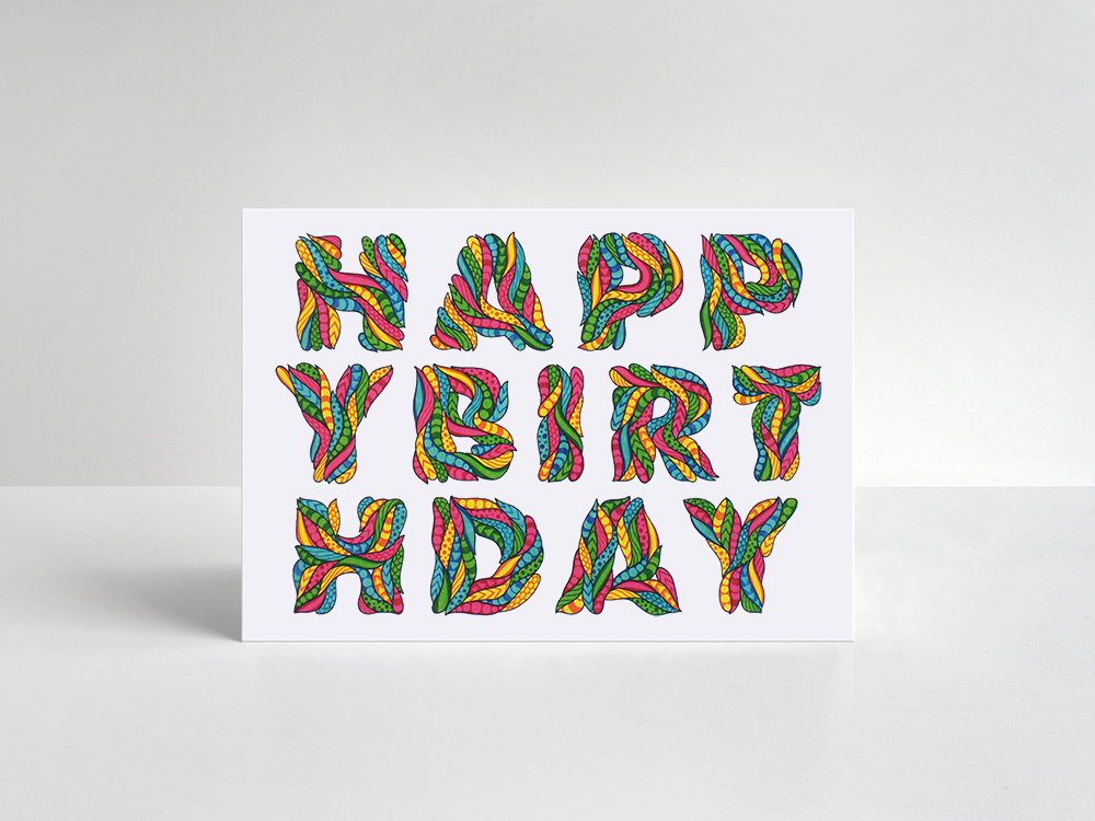 Birthday Card: Multi - product image