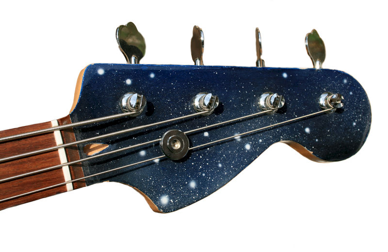 The space bass poppy porter abstract artist jeweller for Outer space guitar