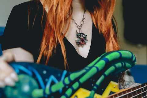 Guitar,Distortion,Necklace,no.1,Ruby