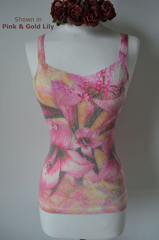 Now 65% Off..Short Style Floral Print & Lace Camisoles - product image