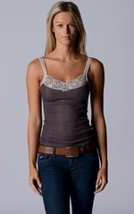 Wide Lace Short Style Camisole with Swarovski Crystal Trim - product images 2 of 3
