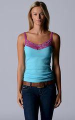 Now 45% Off! Our Fuchsia Wide Lace Camisole - product images 1 of 5