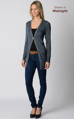 55% Off!! Gold Sparkle Knit Boyfriend Cardigan - product images 2 of 11