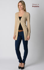 55% Off!! Gold Sparkle Knit Boyfriend Cardigan - product images 8 of 11