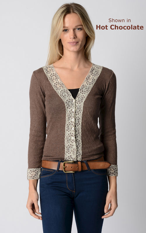 3 More Shades!! In Our Original Short Style Lace Cuff Cardigan - product image