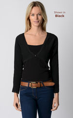 NOW 75% Off!! Our Lace Trim Long Sleeve Shrug - product images 1 of 3