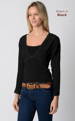 NOW 75% Off!! Our Lace Trim Long Sleeve Shrug - product images 2 of 3