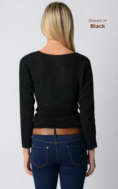 NOW 75% Off!! Our Lace Trim Long Sleeve Shrug - product image