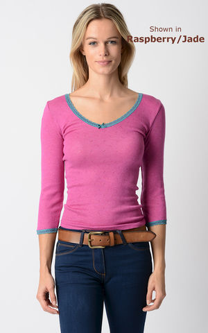 Our,Jade,Narrow,Lace,Top,Lace top, lace trim top, thermal, pointelle knit, ladies knitwear, Palace London