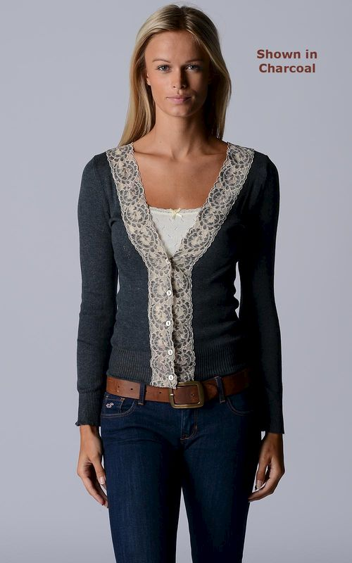 Fabulous New Colours!! In our Classic Wide Lace Cardigan - product image