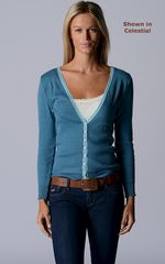 Our Narrow Lace Pointelle Cardigan - product images 2 of 3