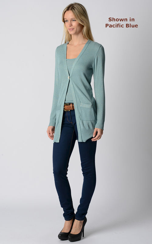 Wow 60% Off! Sparkle Knit Boyfriend Cardigan & Camisole - product image