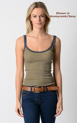 Wow 55% Off! Our Navy Microstripe & Lace Camisole - product images 7 of 8