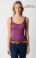 Wow 55% Off! Our Navy Microstripe & Lace Camisole - product images 3 of 8
