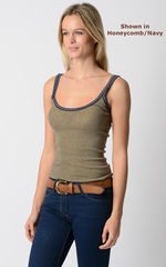 Wow 55% Off! Our Navy Microstripe & Lace Camisole - product images 8 of 8